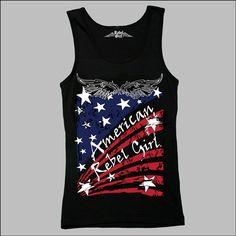 AMERICAN REBEL® GIRL #summertanktop SKU1426  #starsandstripesforever