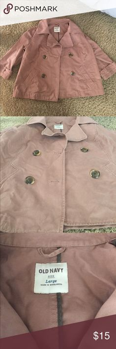 Old Navy Women L Jacket Cotton Coat Trench Good Condition Old Navy Jackets & Coats Trench Coats