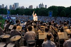 #New #York #NY #NYC #Philharmonic #orchestra #concert #Central #Park #summer #night