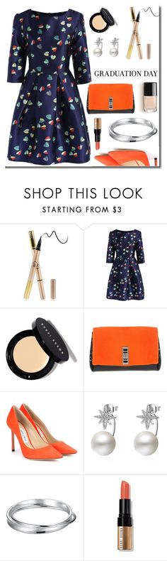 """""""Graduation day"""" by arohii ❤ liked on Polyvore featuring Bobbi Brown Cosmetics, Proenza Schouler, Jimmy Choo, Graduation and polyvorecommunity"""