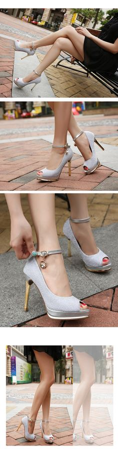 zapatos impermeables dulce de la boca baja, zapatos bajos mujer cabeza de pescado zapatos de tacón alto de la plataforma con los zapatos de verano fina hebilla