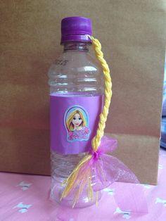 Rapunzel party favour water bottle