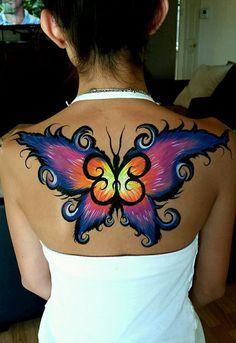 Antoinette Fernandez || cool different body art butterfly