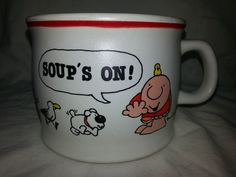 Ziggy Soups On Soup Cereal Bowl Coffee Tea Mug Designer Collection 1982 - Mugs, Cups
