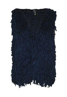 89,90 €   Combina con camisa tartán y un pantalón pitillo banda eco piel   e lana gruesa , amplia sisa y escote. Por encima de la cadera   ENEEFE Online #moda #mujer #chalecos