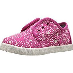 TOMS Kids Baby Girl's Paseo Sneaker (Infant/Toddler/Little Kid) Fuchsia Shibori Dots Oxford