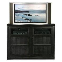 Breakwater Bay Meredith TV Stand Finish: Soft White, Door Type: Wood