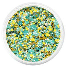 Tiny colored metallic pieces perfectly cut to give maximum sparkle, and shine.  It is made with high quality material, and can be placed directly into nail polish.  These glitter powders are solid, brilliant in color and have a very smooth texture.