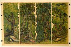 Les kulisy c. 4a. Stapferovy ceské decorace pro 25 i 35 cm. loutky. (Wald Kulissen Nr. 4a. Stapfers tschech. Dekorationen für 25-35 cm Puppen.)