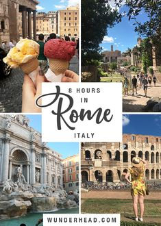 Spending the day in Rome? This route will tick off the Pantheon, Roman Forum, Colosseum, Trevi Fountain and Spanish Steps, and leave two hours for dinner! Rome Airport, Roman Forum, Trevi Fountain, 8 Hours, Eurotrip, Rome Italy, Amalfi, Italy Travel, Travel Inspiration