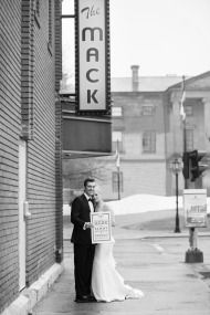 Beautiful wedding shot outside the Mack in Charlottetown, PEI.