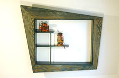 Mid Century Modern Shadow Box  Atomic Shelf And Wall by JunkHouse
