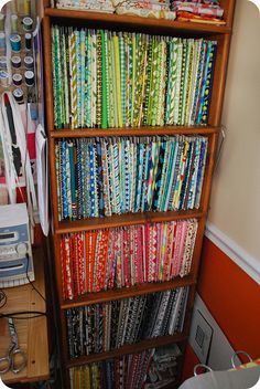 fabric stash...I want to be this organized