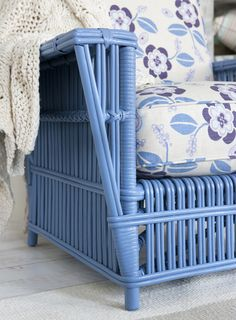 I want to find pretty wicker or rattan furniture, paint it and make lovely cushion covers.