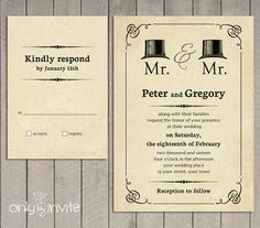 At Last Same Sex Wedding Invitations Wedding ideas Pinterest