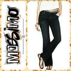 Mossimo Low Rise Bootcut Jeans These jeans bring together comfort & style. They have an attractive wash that can easily be dressed up or down. Wear with heeled boots for a girl?s night out or keep it casual with your favorite pair of sneakers. These are made of stretchy material for a comfortable fit all day long. Retails for $23.   Features:  Size 9 Juniors.   Rise: Low Rise.   Material: 99%: Cotton, 1%: Spandex.   Button w/zip fly.   5-Pocket Style.   Bootcut.   Machine wash.   Inseam: 32…