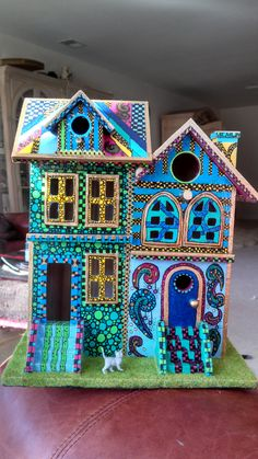 Hand Painted Birdhouse #2