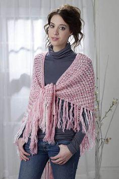 Free Universal Yarn Pattern : Peppermint Hug Shawl