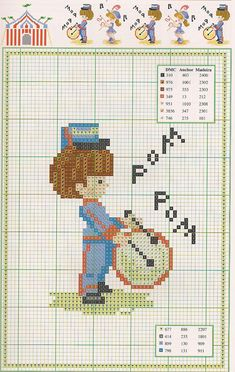 Schema punto croce Circo 1