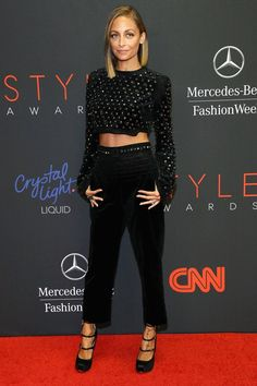 Nicole Richie in an outfit from Antonio Berardi pre-autumn/winter 2013. New York Fashion Week 2013 Front Row and Parties pictures (Vogue.com UK)