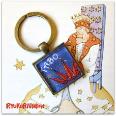 Crown key ring  personalized key ringCustom key by RyokoRainbow