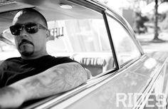 Mr Cartoon. #GangsterSquad #Tattoos (Photo courtesy of RIDES Magazine)