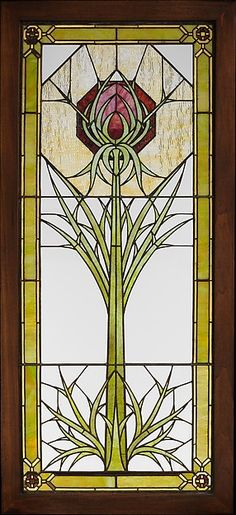 Designed by George Washington Maher (American, 1864–1926) and by Louis J. Millet (American, 1856–1923). Window from the James A. Patton House, ca. 1901. The Metropolitan Museum of Art, New York. Gift of American Decorative Art 1900 Foundation, in honor of Alice Cooney Frelinghuysen, 2008 (2008.535)