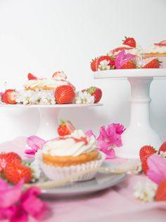 Rhabarber-Erdbeer Cupcakes