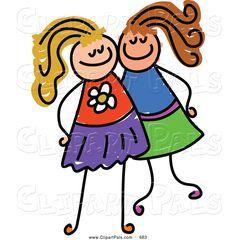free friendship clip art pal clipart of a children with friends rh pinterest com free clipart friends talking free friendship clipart images