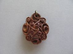 Excellent Hand Carved Fruit Pit Pendant Great Gifts for