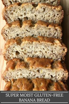 This super moist banana bread is soft and full of banana flavor. Mildly sweet and with no need for any butter or oil or xanthan gum, this beautiful banana bread is perfect for snacking alongside a hot cuppa coffee or tea. #glutenfreebreads #glutenfreebananabread #bananabread #glutenfreerecipes #glutenfreequickbread #quickbreads #ripebananas