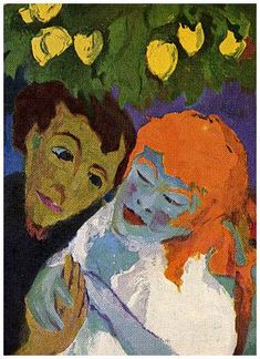Im Zitronengarten - Emil NoldeEmile Nolde (German~Danish 1867~1956) | He was one of the first Expressionists, a member of Die Brücke.Artist Emile NoldeFosterginger.Pinterest.ComMore Pins Like This One At FOSTERGINGER @ PINTEREST No Pin Limitsでこのようなピンがいっぱいになるピンの限界He was one of the first Expressionists, a member of Die Brücke, and is considered to be one of the great oil painting and watercolour painters of the 20th century.