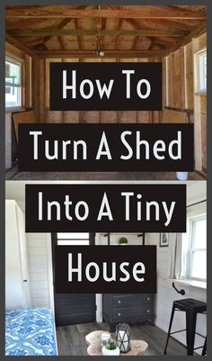 You can now easily learn how to turn a shed into a tiny house with these simple step-by-step guide. Bring the change you always wanted. Cheap Tiny House, Shed To Tiny House, Tiny House Loft, Building A Tiny House, D House, Tiny House Living, Tiny House Design, Small House Plans, House Floor Plans