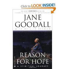 Reason for Hope: A Spiritual Journey [Paperback] Jane Goodall (Author), Phillip Berman (Author) Jane Goodall, Losing Faith, Thing 1, Inspire Me, True Stories, Audio Books, Books To Read, Spirituality, Journey