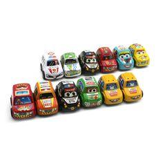 12PCs/Set Car Toys Baby Children Racing Mini Cars Cartoon Educational Toys Mini Cars Cartoo
