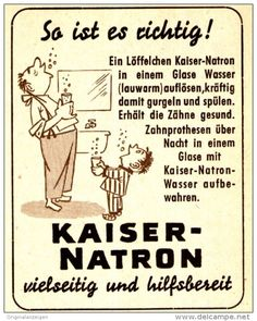 Werbung - Original-Werbung/ Anzeige 1957 - KAISER - NATRON / CARTOON - ca. 60 x 75 mm