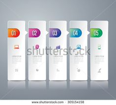 Infographic design template can be used for workflow layout, diagram, number options, web design. Infographic business concept with 5 options, parts, steps or processes. Abstract background. - stock vector