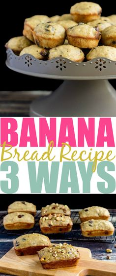 Looking for a perfect, easy, and delicious banana bread recipe? My recipe is the best and I include cook times for mini loaves and mini muffins too!