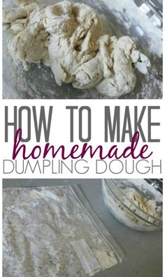 Check out this Homemade Chicken and Dumplings Recipe from Scratch! Easy Freezer Meal that you can make ahead to save time for an easy Dinner Recipe! Dumpling Dough, Dumpling Recipe, Dumplings From Scratch Recipe, Soup Recipes, Chicken Recipes, Cooking Recipes, Bread Recipes, Recipe Chicken, Ideas