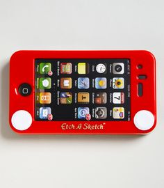Etch-A-Sketch iPhone case...omg this is so cool!