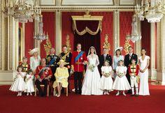 Royal Wedding Photo in the Throne room Buckingham Palace