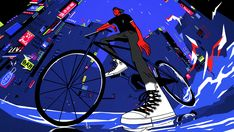 These energetic GIFs and animations showcase Converse's reinvented classic shoe…