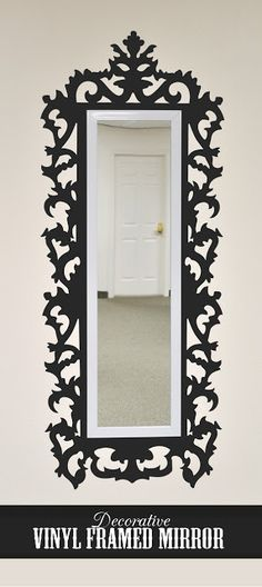 45 vinyl ideas  http://blog.silhouetteamerica.com/2012/09/friday-feature-vinyl-frame-tiling.html