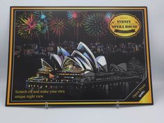 Sydney - Scratch Art Kit - Colour Scratch Scratch Art, Most Beautiful Pictures, Make Your Own, Sydney, Cities, Finding Yourself, Art Pieces, Things To Come, Kit