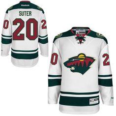 Ryan Suter Minnesota Wild Reebok Away Premier Jersey – White