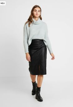 Forever New, Roll Neck Jumpers, Mint, Leather Skirt, Skirts, Fashion, Breien, Peppermint, Moda