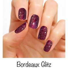 Color Street Nail Art, Nail Stickers, Nail Polish Sets – Bordeaux Glitz, Purple with Silver Glitter Nail Polish – Fancy Nails Silver Glitter Nails, Sparkly Nails, Glitter Nail Polish, Holographic Glitter, Acrylic Nails, Nail Nail, Red Nail, Nail Polish Sets, Nail Polish Strips