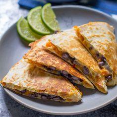 Chipotle Sweet Potato & Black Bean Quesadillas with Lime Yogurt (Slow Cooker)  #dan330 http://livedan330.com/2015/07/29/chipotle-sweet-potato-black-bean-quesadillas-lime-yogurt-slow-cooker/