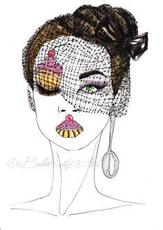 Cup cake Queen by Lorena Balea-Raitz, via Behance