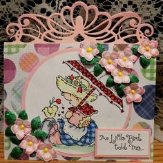 WT568 A Little Bird Told Me by Shoe Girl - Cards and Paper Crafts at Splitcoaststampers